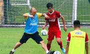 Văn Quyết ghi bàn trong trận Việt Nam thua Incheon United