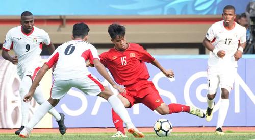 Việt Nam để thua Jordan 1-2 trong trận ra quân giải U19 châu Á. Ảnh: AFC