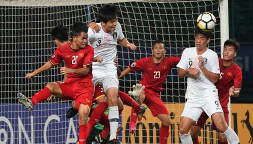 Việt Nam thua Hàn Quốc 1-3 trong trận đấu cuối vòng bảng giải U19 châu Á.