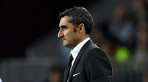 Valverde không tỏ vẻ vui mừng, dù đội của ông đã hạ đối thủ đáng gờm Inter tại vòng bảng Champions League. Ảnh: Reuters.