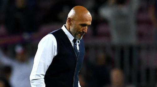 HLV Spalletti và Inter nhận thất bại đầu tiên ở Champions League mùa này. Ảnh:Reuters.