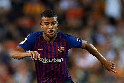 Sự xuất hiện của Rafinha trong đội hình xuất phát là quyết định bất ngờ của Barca. Ảnh:AFP.