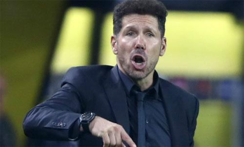 Simeone nhận thất bại muối mặt tại Champions League. Ảnh: Reuters