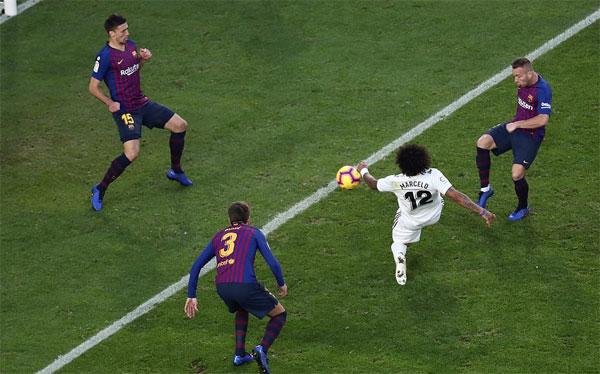 Bàn gỡ của Marcelo chỉ đem lại hy vọng mong manh cho Real trước khi vụt tắt.