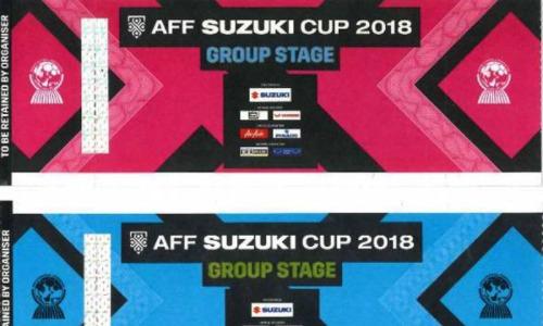 Mẫu vé AFF Cup 2018.