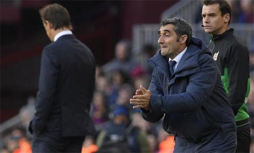 Real để thua 1-5 ngay cả khi Barca không có Messi. Ảnh: DS