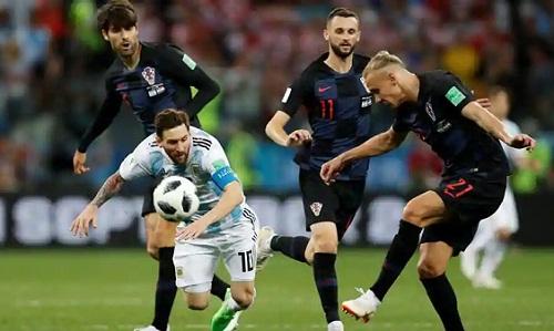 Messi bị Croatia vô hiệu hóa tại World Cup. Ảnh: Reuters.