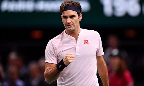 Federer đang đi đúng lộ trình trên con đường đến với danh hiệu thứ 100 trong sự nghiệp. Ảnh: Sky.