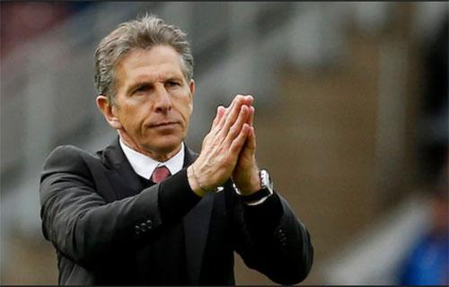 HLV Puel và các cầu thủ muốn có màn trình diễn đẹp mắt để tưởng nhớ cố chủ tịch Vichai. Ảnh:Reuters.