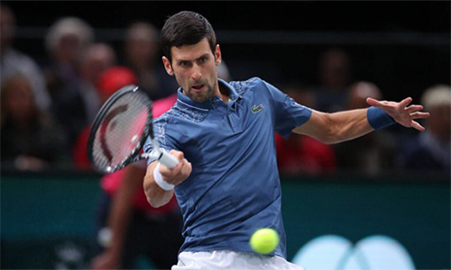 Djokovic có chiến thắng thứ 15 trong 17 lần đối đầu với Cilic. Ảnh: AP.