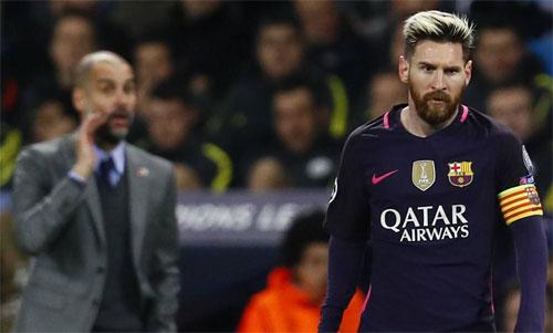 Pep và Messi chưa bao giờ tái hợp sau giai đoạn hoàng kim 2008-2012. Ảnh: Reuters
