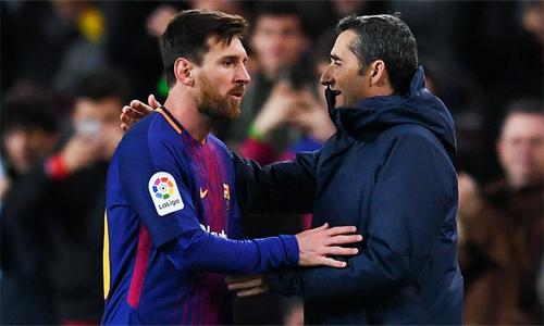 Valverde chờ đợisự trở lại của Messi. Ảnh: AFP.