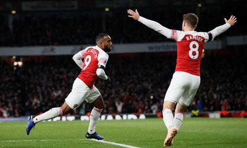 Lacazette giành lại một điểm cho Arsenal. Ảnh:Reuters.