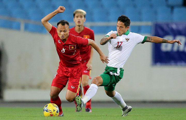 Trọng Hoàng được HLV Park Hang-seo đánh giá cao nhờ có nền tảng thể lực sung mãn.