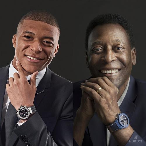 Kylian Mbappé được so sánh với huyền thoại bóng đá Pelé. Giờ đây cả hai đã cùng ở chung dưới một mái nhà khi trở thành đại sứ thương hiệu củaHublot.