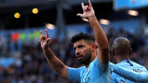 Aguero là cỗ máy ghi bàn ổn định nhất của Man City. Ảnh:Reuters.