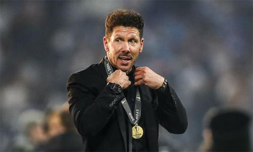 Simeone tin tưởng vào lối chơiông xây dựng 7 năm qua tại Atletico. Ảnh: AFP.