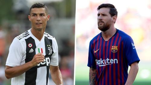Tuổi tác khiến Ronaldo và Messi giảm giá trị dù đây vẫn là hai cầu thủ hàng đầu thế giới. Ảnh:AFP.
