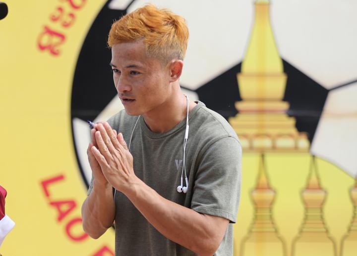HLVSundramoorthy đánh giáVongchiengkham là mẫu cầu thủ có thể tạo ra bước ngoặt của trận đấu. Ảnh: Đức Đồng