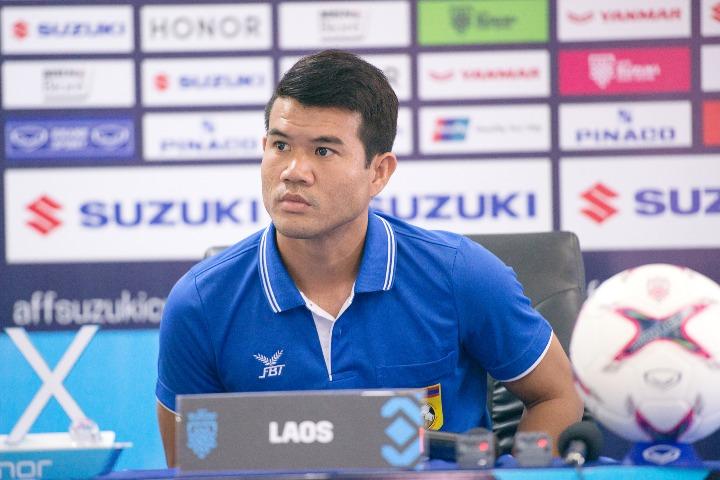Sibounhuang là giàu kinh nghiệm nhất ở tuyển Lào dù chưa từng góp mặt ở AFF Cup. Ảnh: AFF.