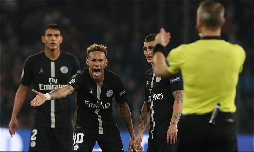 Neymar thể hiện đẳng cấp trong trận đấu nhưng không ghi bàn. Ảnh: Reuters.