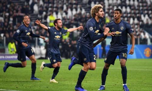 Cầu thủ Man Utd vui mừng với bàn ấn định tỷ số ở phút 90. Ảnh: AFP.