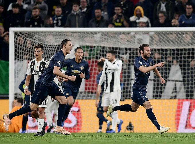 Man Utd ba lần thắng trên sân Juventus tại Champions League