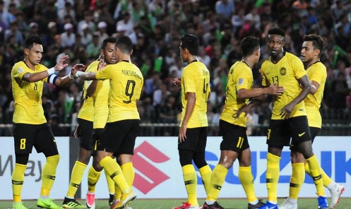Thi đấu chật vật nhưng Malaysia vẫn bỏ túi ba điểm sau trận ra quân. Ảnh: Malaysia FA.
