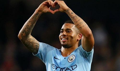 Jesus ghi ba bàn trong trận thắngShakhtar nhưng nhiều khả năng không đá chính trận gặp Man Utd. Ảnh: Reuters.
