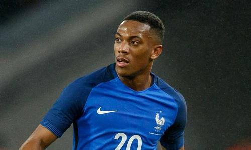 Martial sẽ xuất hiện trở lại trong màu áo tuyển Pháp. Ảnh: AFP.