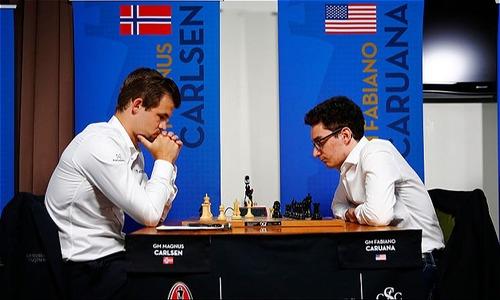 Caruana thách đấu ngôi Vua cờ của Carlsen