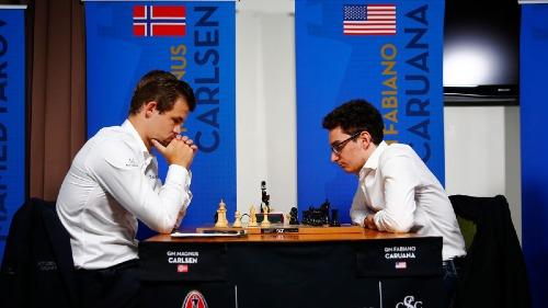 Caruana thách đấu ngôi Vua cờ của Carlsen - ảnh 1