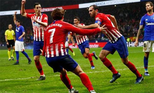 Tinh thần thi đấu kiên cường giúp Atletico ngược dòng thành công. Ảnh: Reuters