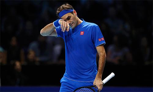 Federer từng hai lần hạ Nishikori tại ATP Finals, nhưng không thể tái hiện chiến thắng một lần nữa. Ảnh: Sky.