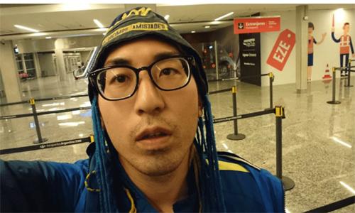 Kato đến Buenos Aires nhưng không thể xem trận đấu. Ảnh: Instagram.