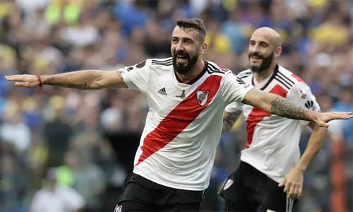 River Plate cầm hòa đối thủ 2-2 ở trận lượt đi và sẽ có lợi thế sân nhà ở lượt về. Ảnh: AFP.