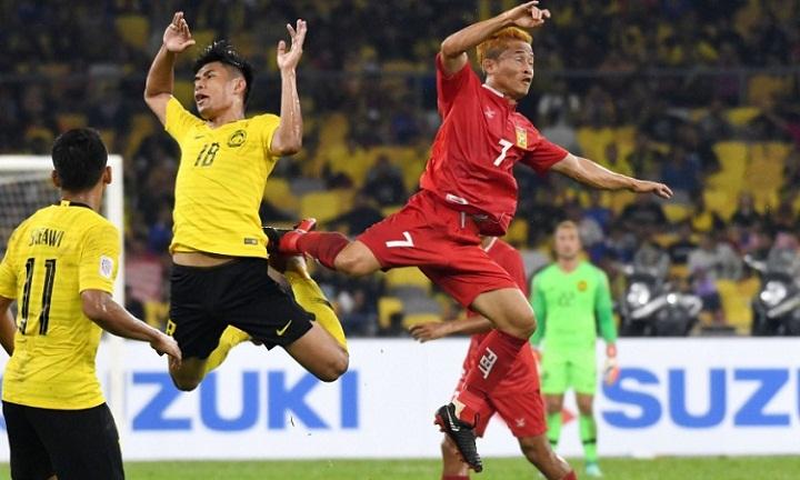 Lào có một trận đấu quả cảm nhưng không thể giữ tỷ số hòa. Ảnh: AFF Cup.