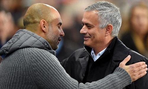 Mourinho một lần nữa thất bại khi đối đầu Guardiola. Ảnh: AFP.