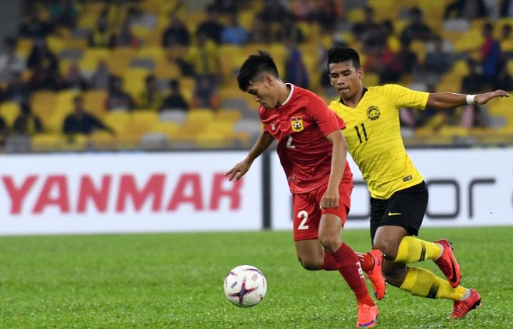 Malaysia vươn lên dẫn đầu bảng A sau hai trận toàn thắng trong khi Lào nhận thất bại thứ hai. Ảnh: AFF Cup.