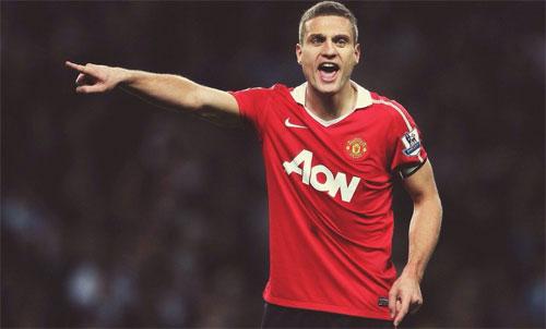 Vidic từng là một trung vệ mẫn cán tại sân Old Trafford. Ảnh: Reuters