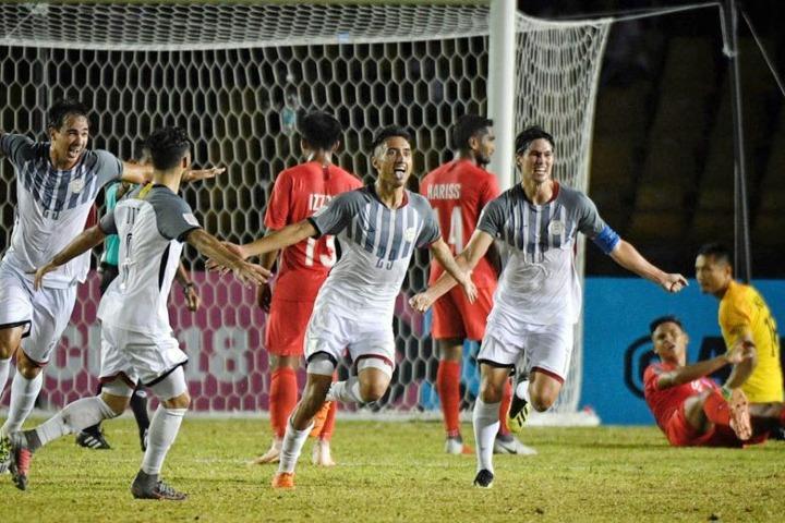 Philippines thắng Singapore khiến cục diện bảng B càng khó lường. Ảnh: ST.