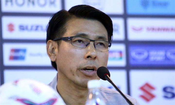 Tan Cheng Hoe từng là trợ lý của HLV Rajagopal khi Malaysia đoạt HC vàng SEA Games 2009 và vô địch AFF Cup 2010. AFF Cup 2018 là giải đấu lớn đầu tiên của ông trên cương vị HLV trưởng tuyển Malaysia. Ảnh: Lâm Thỏa.