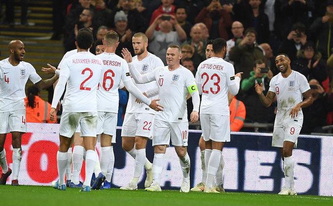 Tuyển Anh thắng đậm trong trận chia tay Rooney
