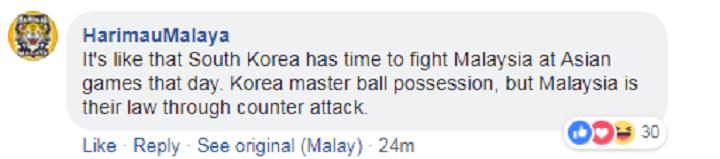 Người hâm mộ thất vọng vì Malaysia cầm nhiều bóng mà vẫn thua. Ảnh chụp màn hình.
