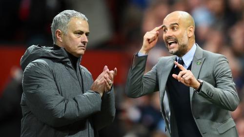 Mourinho và Guardiola thường xuyên được xem là kình địch. Ảnh:AFP.