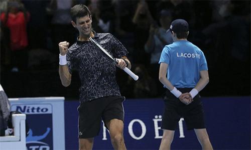Djokovic thắng 34 trong 36 trận gần nhất, và thắng 17 trong 19 lần đối đầu với Cilic. Ảnh: AFP.