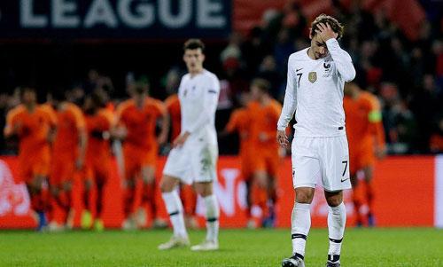 Pháp thua trận đầu tiên kể từ khi giành World Cup.