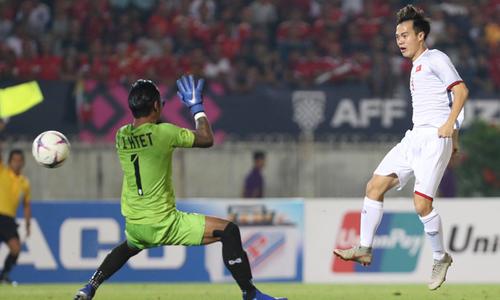 Bị tước bàn thắng hợp lệ, Việt Nam hòa Myanmar