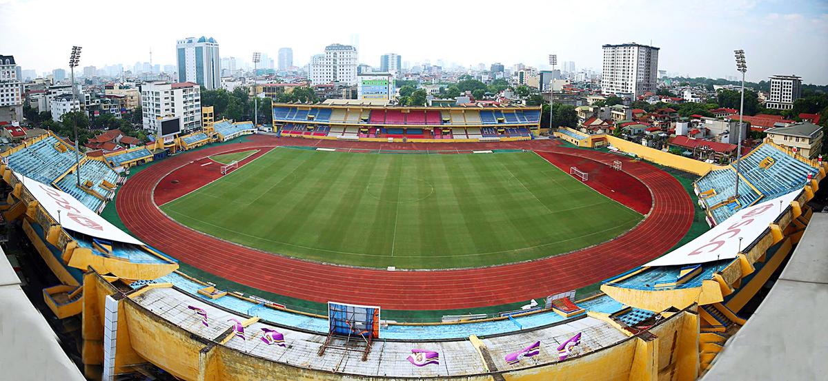 Sân Hàng Đẫy sẵn sàng trước trận Việt Nam - Campuchia