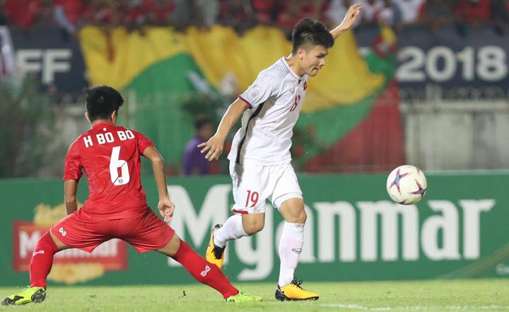 Quang Hải đã đóng góp một bàn thắng cho Việt Nam ở giải năm nay, nhưng cơ hội tiếp cận khung thành của anh không nhiều. Ảnh: Đức Đồng.